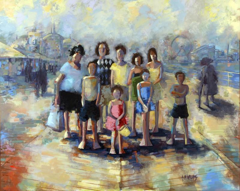 """Atlantic City"" - Oil on Canvas"